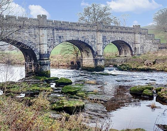 Bolton Abbey aqueduct map