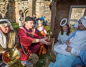 bolton abbey nativity - gifts