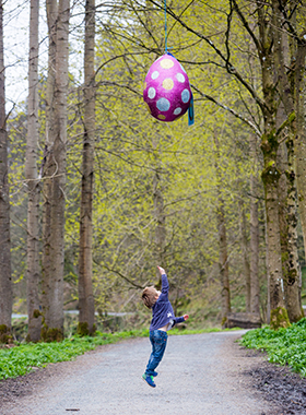 bolton abbey easter trail boy jumping