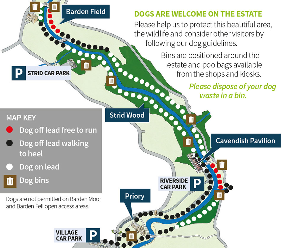 bolton abbey dog map