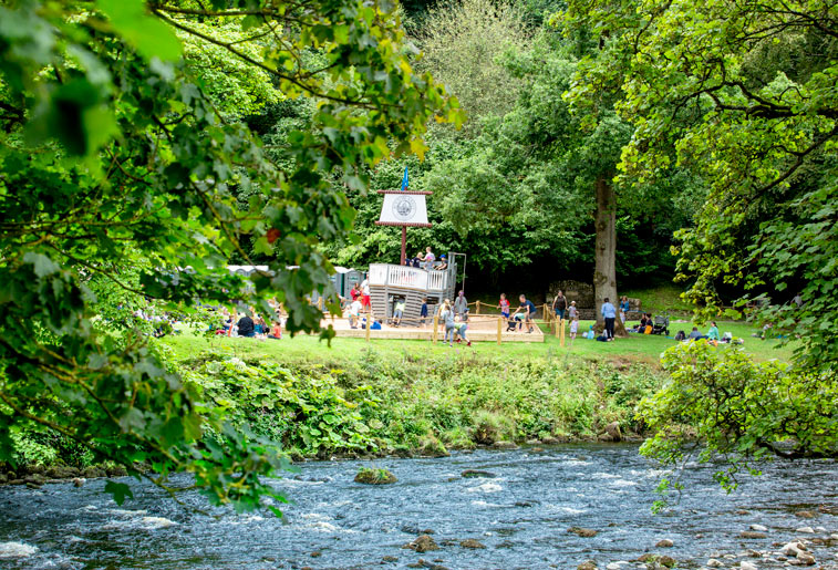 Bolton Abbey Pirate Ship and Pop up Beach